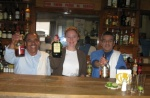 Jerez - behind the bar with bottles of mezcal