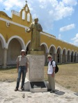 Izamal - statue of Pope John Paul II